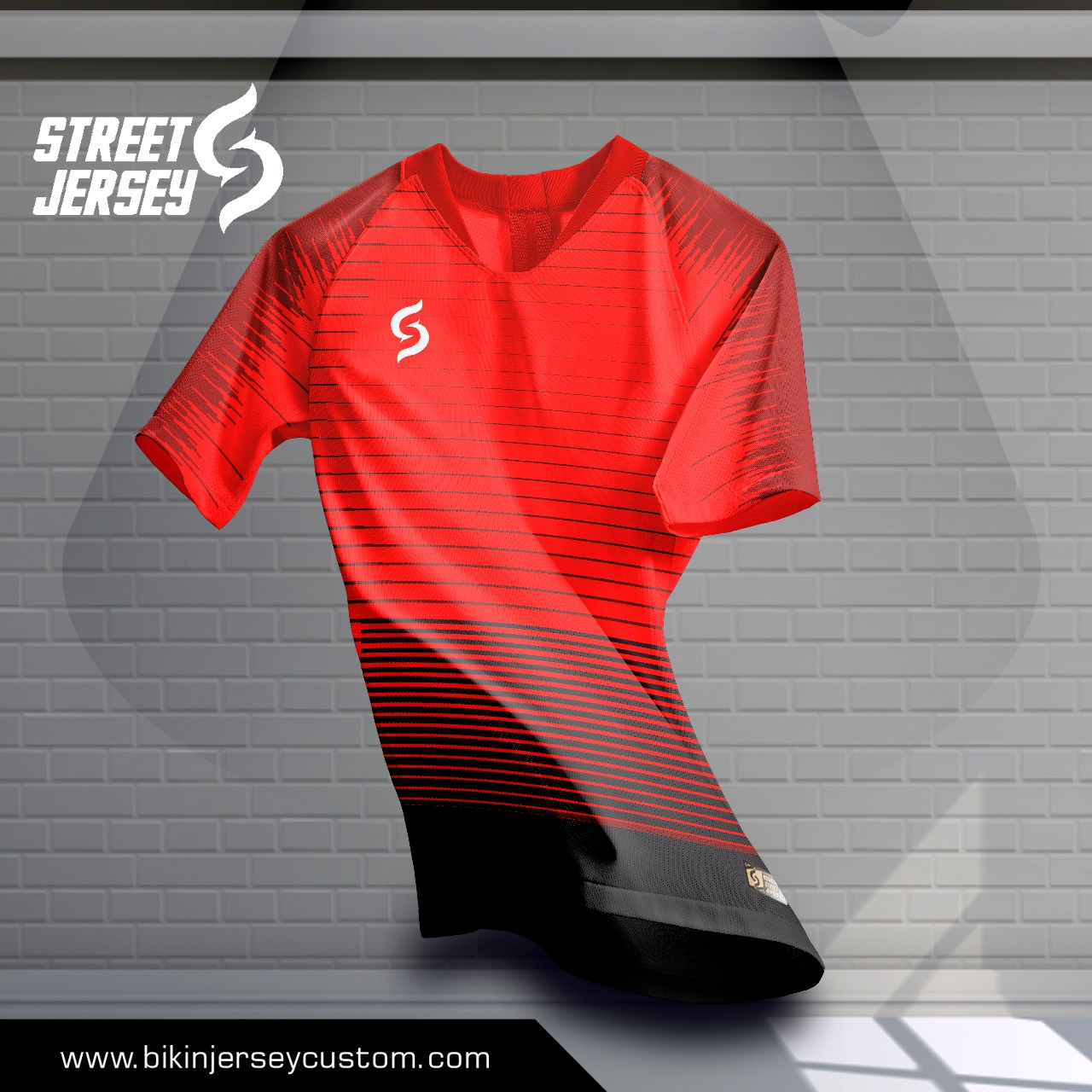 Jersey Bola 2018 Red Blouse Sj0015 Zoom Image